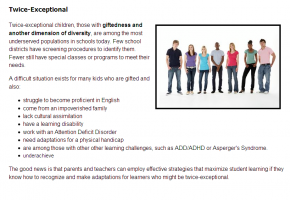 Sample from Gifted Learners in the Classroom Course #5