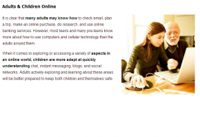 Sample from Internet Safety: Protecting Children in an Online World Course #1