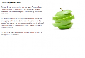 Sample from Integrating Standards Course #1