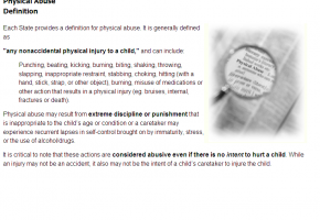 Sample from Recognizing & Preventing Child Abuse Course #2