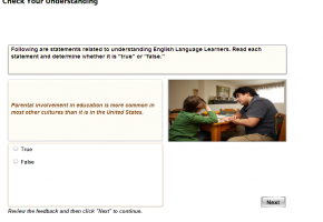 Sample from Teaching English Language Learners Course #3