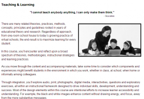 Sample from Accommodating All Learners course #1