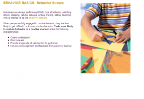 Sample from Positive Behavior Intervention Strategies course #1