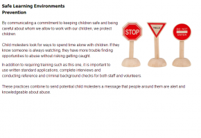 Sample from Recognizing & Preventing Child Abuse course #5