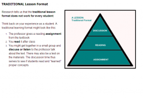 Sample from Reading Across the Curriculum course #5