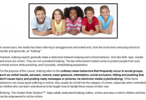 Bullying – The Golden Rule Solution
