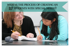 What is the process for creating an IEP for students with special needs?