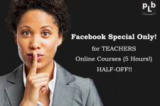1/2 PRICE Online Courses for Teachers
