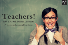 DOUBLE DISCOUNTS on online courses for Teachers!