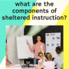Components of Sheltered Instruction