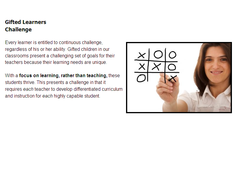 Differentiation For Gifted Learners In The Classroom Professional