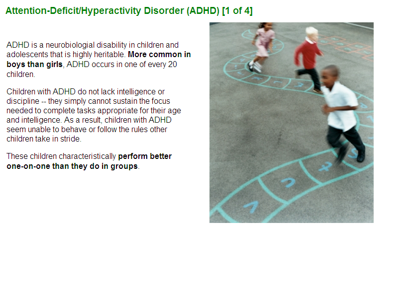 Sample from Recognizing Early-onset Mental Health Disorders in Children and Adolescents #5