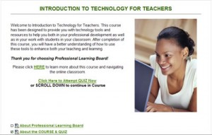 Sample from Introduction to Technology for Teachers