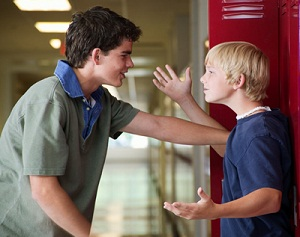 The best way to respond to bullying is to turn a physical confrontation into a verbal conversation.