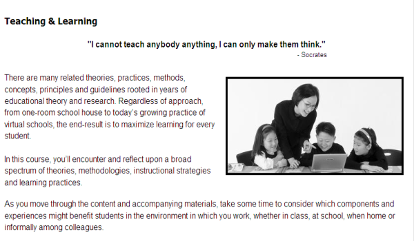 Renew a teaching license with online course: Accommodating All Learners