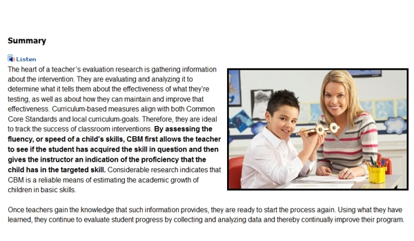 Core Curriculum-Based