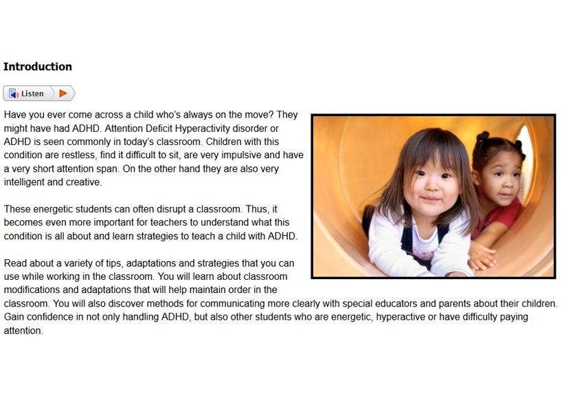 Sample from Supporting Special Needs in the Classroom