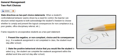 Sample from Positive Behavior Intervention Strategies course #2