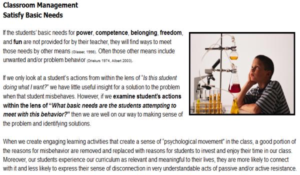 Classroom Management for Positive Behaviors