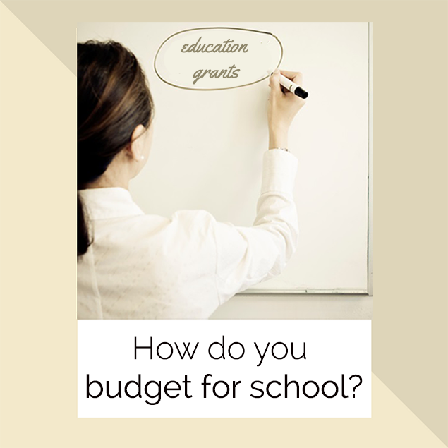 How do you budget for school?