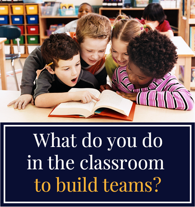 What do you do in the classroom to build teams?