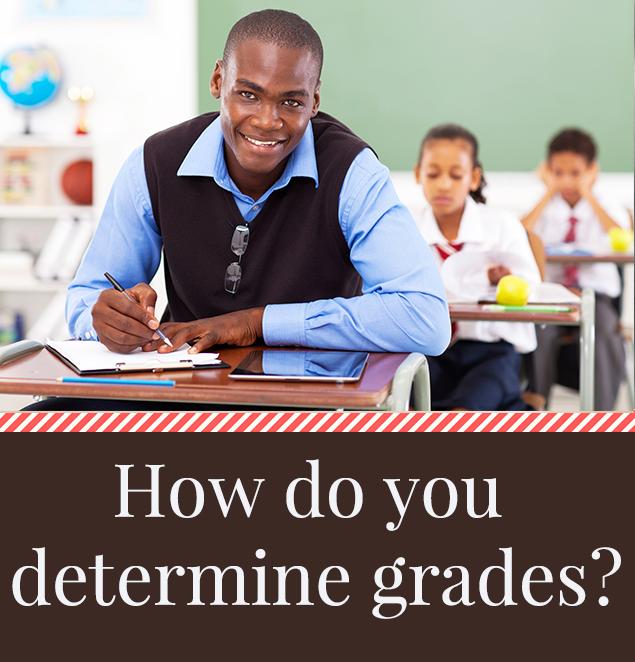 How do you determine grades?