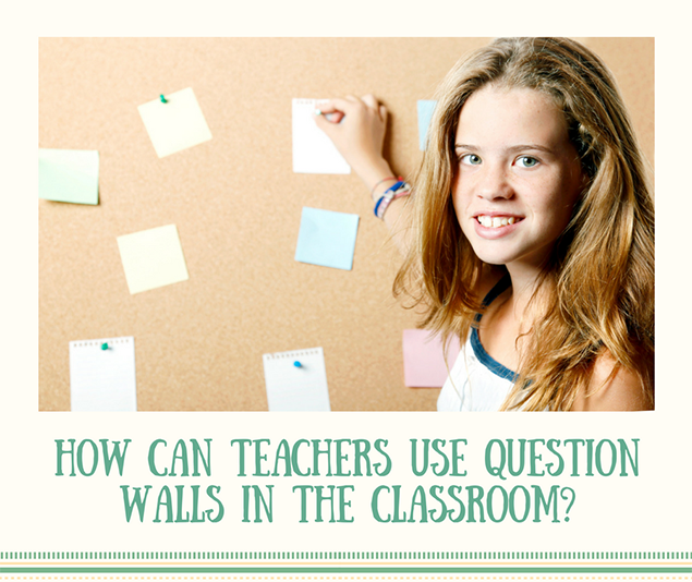 How can teachers use question walls in the classroom?