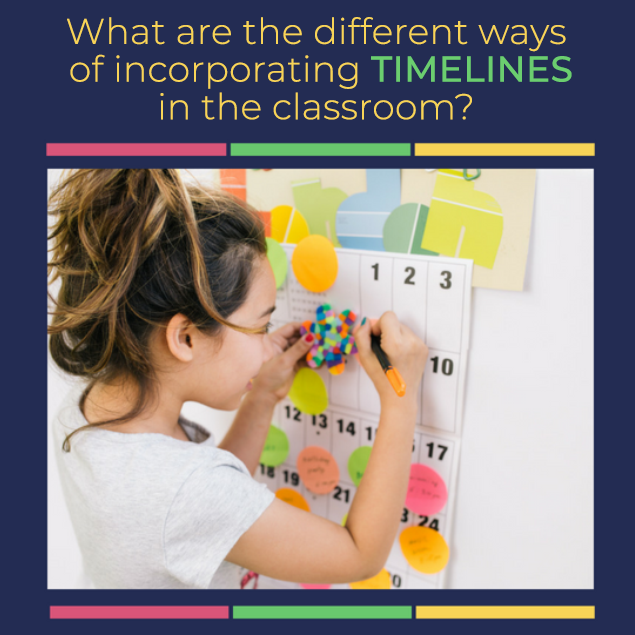 What are the different ways of incorporating timelines in the classroom?