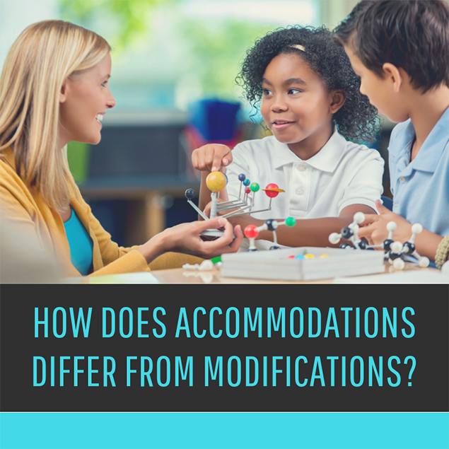 How does accommodations differ from modifications?